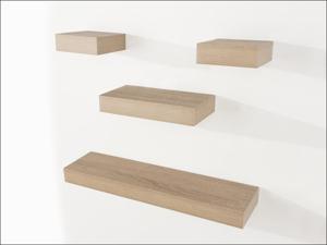 Core Shelf Kit Narrow Floating Shelf Set Oak 4 Piece HD5OK
