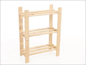 Core Storage Shelf Unit Slatted Storage Unit Narrow 3 Shelf PSU3
