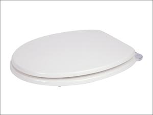 Croydex Toilet Seat Keilder Toilet Seat Wood White WL600822H