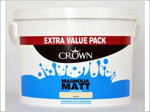 Crown Paints Matt Emulsion Paint Non-Breatheasy Matt Magnolia 7.5L
