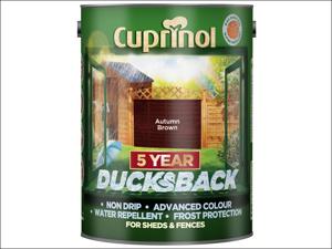 Cuprinol Wood Preserver 5 Year Ducksback Autumn Brown 5L