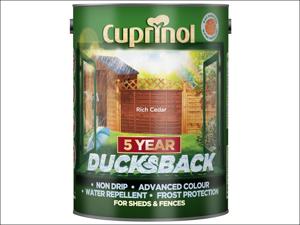 Cuprinol Wood Preserver 5 Year Ducksback Rich Cedar 5L