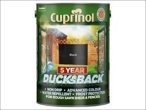 Cuprinol Wood Preserver 5 Year Ducksback Black 5L