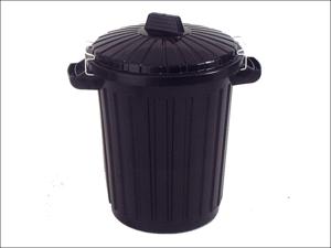 Curver Plastic Dustbin Dustbin & Clip Lid Black 70L 155537
