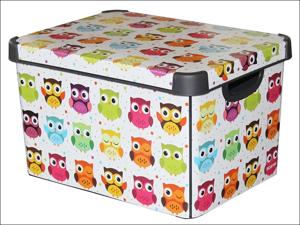 Curver Storage Box Deco Storage Box-Owls 22L 223798
