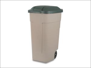 Curver Plastic Dustbin Wheeled Garden Refuse Bin 110L 176805