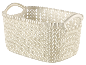 Curver Storage Basket Knitted Basket Rectangular Oasis White 3L 229296