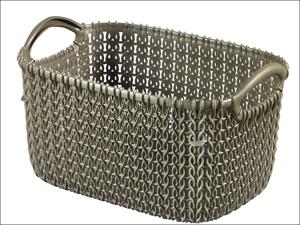 Curver Storage Basket Knitted Basket Rectangular Harvest Brown 3L 229294