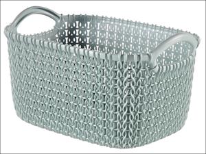 Curver Storage Basket Knitted Basket Rectangular Misty Blue 3L 229304