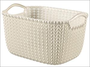 Curver Storage Basket Knitted Basket Rectangular Oasis White 8L 229318