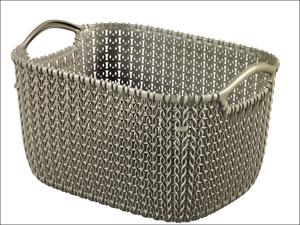 Curver Storage Basket Knitted Basket Rectangular Harvest Brown 8L 229315
