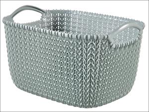 Curver Storage Basket Knitted Basket Rectangular Misty Blue 8L 230010
