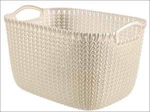 Curver Storage Basket Knitted Basket Rectangular Oasis White 19L 229312