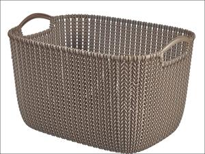 Curver Storage Basket Knitted Basket Rectangular Harvest Brown 19L 229306