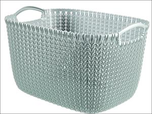 Curver Storage Basket Knitted Basket Rectangular Misty Blue 19L 230000