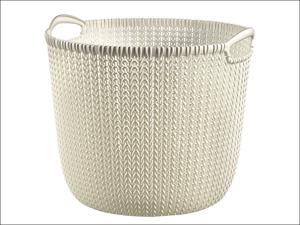 Curver Storage Basket Knitted Basket Round Oasis White 30L 229272
