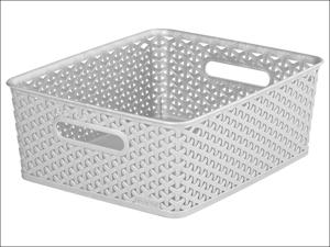 Curver Storage Basket Storage Basket Rattan Effect Grey 13L 232282