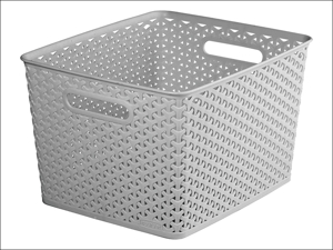 Curver Storage Basket Storage Basket Rattan Effect Grey 18L 232280