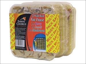 Dawn Chorus Bird Feed Fat Feast Assorted Value x 3 10306