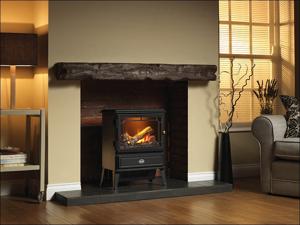 Dimplex Log Effect Heater Gosford Opti-Myst Stove Black 2kW GOS20