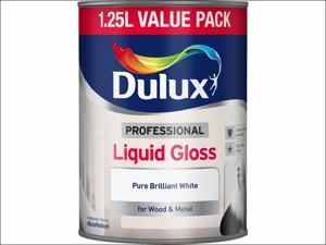 Dulux Gloss Paint Professional Liquid Gloss Pure Brilliant White 1.25L