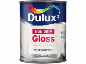Dulux Non Drip Gloss Paint Non Drip Gloss Pure Brilliant White 750ml