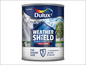 Dulux Exterior Gloss Paint Weathershield Exterior Gloss Pure Brilliant White 750ml