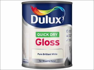 Dulux Gloss Paint Quick Dry Gloss Pure Brilliant White 750ml