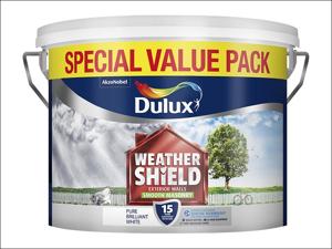 Dulux Masonry Paint Weathershield Masonry Smooth Pure Brilliant White 7.5L