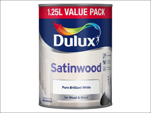 Dulux Satin Paint Satinwood White 1.25L 5091072