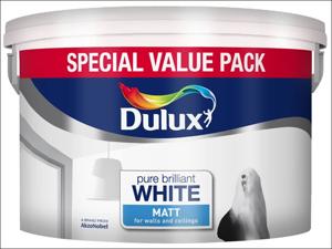 Dulux Matt Emulsion Paint Matt Pure Brilliant White Special Value Pack 7L