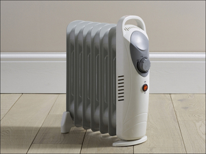 Daewoo Oil Radiator Heater Mini Oil Filled Radiator 800W HEA1140