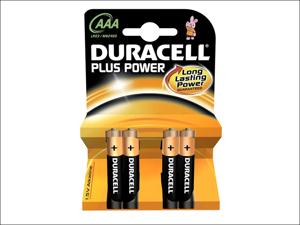 Duracell Standard Batteries Plus Batteries AAA x 4 MN2400B4
