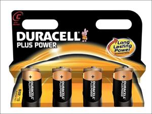 Duracell Standard Batteries Plus Batteries C x 4 MN1400B4