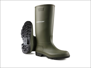 Dunlop Wellington Boots Pricemaster Wellington Boots Green Size 3 380VP