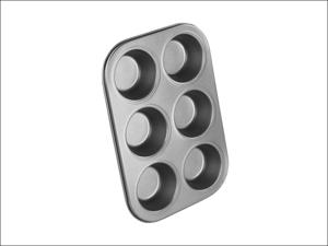 Chef Aid Muffin Tin Non-Stick 6 Cup Muffin Tray 10E10284