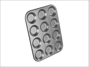 Chef Aid Bun Tin Non-Stick 12 Cup Shallow Bun Tin 10E10285
