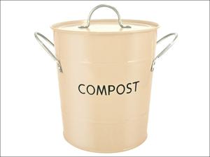 Eddingtons Recycling Caddy Compost Pail Buttercream 83009