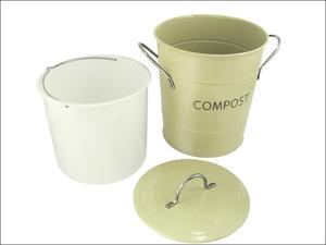 Eddingtons Recycling Caddy Compost Pail Sage Green 83010