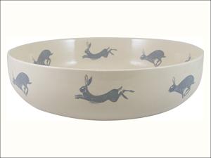 English Tableware Company Serving Dish Artisan Serving Bowl White/ Blue DD0851A12