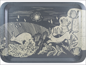 English Tableware Company Melamine Tray Artisan Tray Large 44 x 33cm Hare DD0835A23