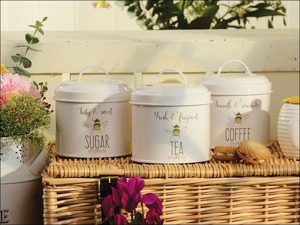 English Tableware Company Canister Set Bee Happy Storage Tin Set DD0980A01