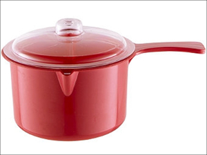 Easy Cook Microwave Saucepan Saucepan + Lid Red 0.6L NS613R