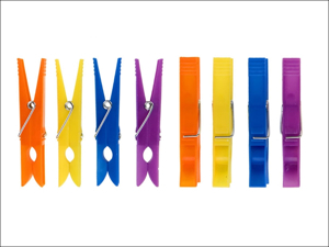 Elliott Clothes Pegs Plastic Clothes Pegs x 36 Assorted 10F00193