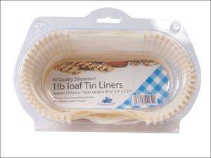Essential Cooking Liner Greaseproof Loaf Tin Line 1lb x 40 FP1LOAF