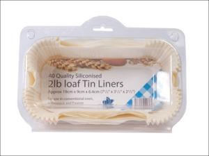Essential Cooking Liner Greaseproof Loaf Tin Liner 2lb x 40 FP2LOAF