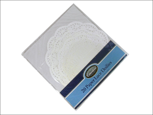 Essential Paper Doiley Disposable Doylies White Assorted x 20 DOY144