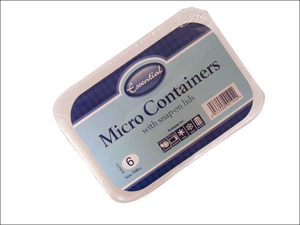 Essential Tub Micro Container + Lid 500cc x 6 MWC500N/6
