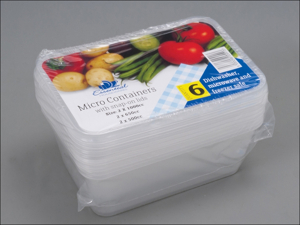 Essential Tub Micro Container + Lid Assorted x 6 MWCCOM