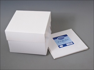 Essential Cake Storage Stapleless Cake Box + Lid 8in CBOX8